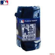 "New Northwest MLB Los Angeles Dodgers Large Soft Fleece Throw Blanket 50"" X 60"""