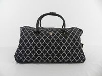 LIGHTWEIGHT TRAVEL HOLDALL BAG WITH WHEELS TELESCOPIC HANDLE SIZE 55X35X30cms