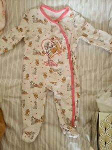 Baby Girl Clothes 3-6 Month Disney sleep suit
