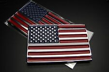 AMERICAN FLAG ABS CHROME 3D EMBLEM DECAL STICKER LOGO FOR CAR AND TRUCKS