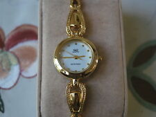 Nice New Q&Q by Citizen Gold Tone Lady Dress Watch w/White Dial