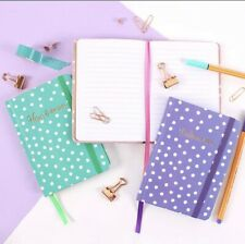 A6 Purple Polka Notebook Journal Gift Friend Birthday Christmas Sister Mum