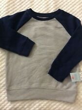 Boys' 4T Gray & Navy Blue Crew Neck Sweatshirt by Cat & Jack-NEW WITH TAGS!