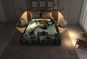 4Estaciones Panda Blanket King Queen Blanket Lightweight Korean Mink by Solaron