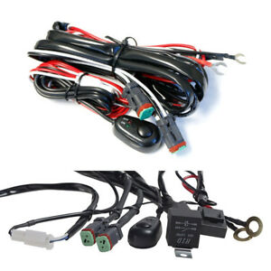 Car Switch Cable set 2 Lead 14V 40A LED Work Light Bar Wiring Harness Kit ON/OFF