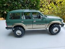 1/18 Diecast Toyota Land Cruiser Green  modified offroad tires and chrome wheels