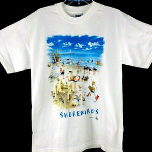 Shorebirds T-shirt XL White Unisex NWT Short Sleeve Gildan