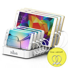 Hot USB Multi Port Fast Wall Charger Quick Charging Station with Free Cable