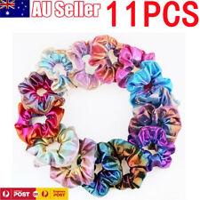 11 Pcs Shiny Metallic Elastic Hair Ties Women Hair Scrunchies Ponytail Holder AU
