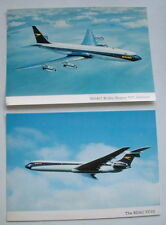 ORIGINAL 1960s OFFICIAL BOAC POSTCARDS VC10 & BOEING 707 *VGC*