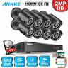 ANNKE 8CH 1080P Lite DVR Home 2MP Security Camera System 3000TVL CCTV IR Night