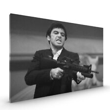 Tony Montana Scarface CANVAS Framed Glossy with Metal Hanger Various Sizes