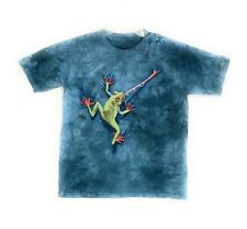 The Mountain Kids Frog Tongue T-Shirt Blue 100% Cotton Youth Tee Sizes M & L NWT