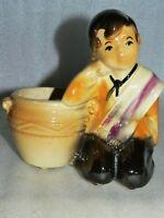 Shawnee USA Hispanic Boy Pot Planter Figurine