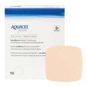 "Aquacel Foam Non Adhesive 10 x 10 cm (4 x 4 "") wound dressing x10"