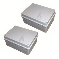 2 x 150mm IP56 weatherproof cable wire junction box adaptable outdoor enclosure