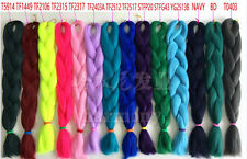 "24"" Kanekalon Jumbo Braiding Synthetic Hair Extension Twist Braids 80g Any Color"
