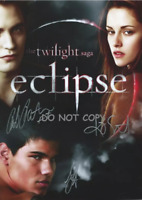 HAND SIGNED - TAYLOR ROB & KIRSTEN WITH COA - TWILIGHT SAGA - AUTOGRAHPED 8X10