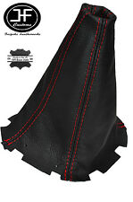 RED STITCHING FITS SUBARU FORESTER 1997-2002 BLACK LEATHER GEAR GAITER