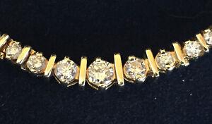DIAMOND NECKLACE DIAMOND TENNIS NECKLACE RIVIERA LINE GRADUATED 2.0ctw 14k yg