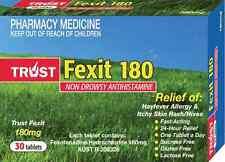 SAME AS TELFAST FEXOFENADINE 180MG 30 TABLETS Hayfever Allergy Antihistamine