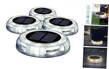 New listing Solar Deck Lights Driveway Lights Outdoor, 4 Pack Solar Powered Led Dock Lights
