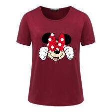 Women Summer Casual T-shirt Short Sleeve Printed Cotton Blouse Top Shirt Tee New