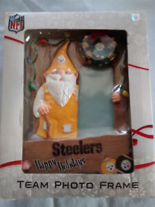 NFL PITTSBURGH STEELERS TEAM HOLIDAY WHIMSICAL GNOME PHOTO PICTURE FRAME
