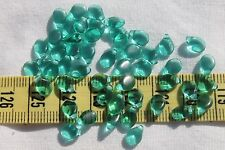 5x7mm Pip Preciosa Czech Glass Beads # 286- L Transparent Emerald Green  50pcs