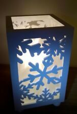 Snow White Snowflakes Christmas LED Bedroom Lantern Table Lamp Lights Gift