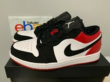 low priced 3d3ef b6a8d Air Jordan 1 Low White Black Gym Red  Black Toe  553558-116 Men s