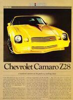 1980 Chevrolet Camaro Z28 Original Car Review Report Print Article J950