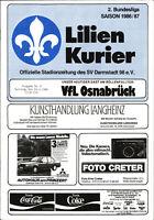 II. BL 86/87 SV Darmstadt 98 - SV 07 Waldhof Mannheim, 14.02.1987