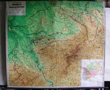 Schulwandkarte brockmanns mapa natal renania del norte-westfalia 201x176 ~ 1950 Vintage