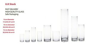 Glass Cylinder Vases Wedding table decoration home party flower candle holder
