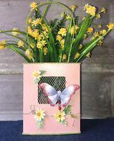 """Tin Metal Butterfly Planter 7.5"""" Centerpiece"""