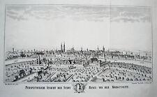 Basel Bale Rhein Dom Brücke  Schweiz alte Lithographie nach Büchel 1860