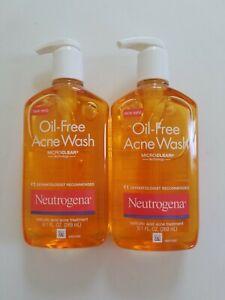 lot of 2 Neutrogena Oil Free Acne Wash 9.1 FL oz read description