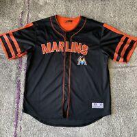 True Fan Mlb Miami Marlins Baseball Jersey Mens XL
