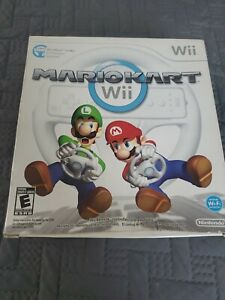 Mario Kart (Wii, 2008) With Wii Wheel (Factory Sealed)