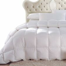 Four Season Striped White Duck Down Comforter with 300tc Cotton Weave