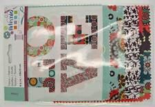 8 Tissu coupon Petite Fleur Artemio 15x15cm 4 motifs fleur DIY loisirs créatifs