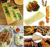 Wooden Bamboo Skewers Grill BBQ's Fruits Shish Kebab Cocktail Pick Sticks Party