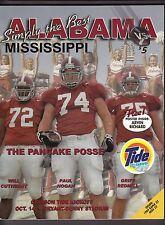 2000 Alabama Tide v Ole Miss Rebels Football Program 10/14/2000 Ex 19128