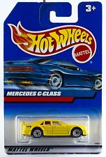 Hot Wheels Mercedes C-Class Yellow w/Wire Spokes International Card New 1999