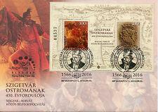 Hungary 2016 FDC Siege of Szigetvar JIS Turkey 2v M/S Cover Military Stamps