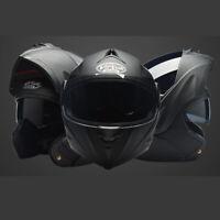 Modular Flip Up Motorcycle Helmet Full Face Dual Visor Motocross Street Bike