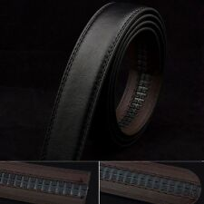 Fashion Men Black PU Leather Waistband Waist Strap Belt for Automatic No Buckle