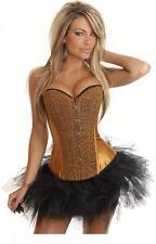 Sexy Korsett Burleske Gürtel Damenunterwäsche Unterwäsche Frauen Gold c122