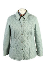 Vintage Barbour Quilted Womens Coat Jacket Lined Outerwear 14 Turquoise - C1869